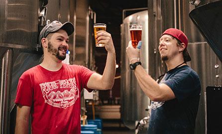 Brewers admiring their work